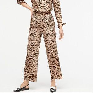 J Crew NWT 2019 silk leopard print crop pants 🔥🤩